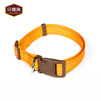 Wholesale Nylon Pet Collar With Plastic Locking Buckle For Dog Walking