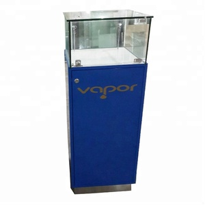 floor standing wood luxury VAPOR e- liquid exhibition display showcases