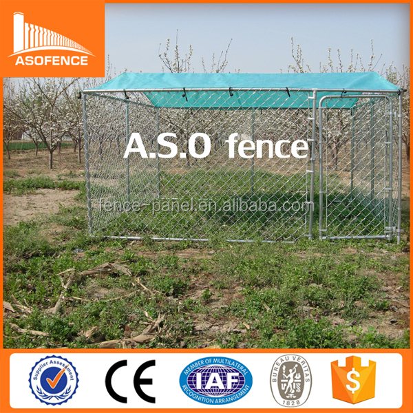 China factory galvanized outdoor cheap chain link 5x5 dog kennels