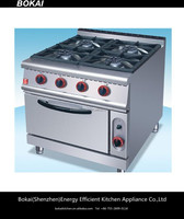 BOKAI gas range burner/Restaurant kitchen equipment gas range 4 burners with oven