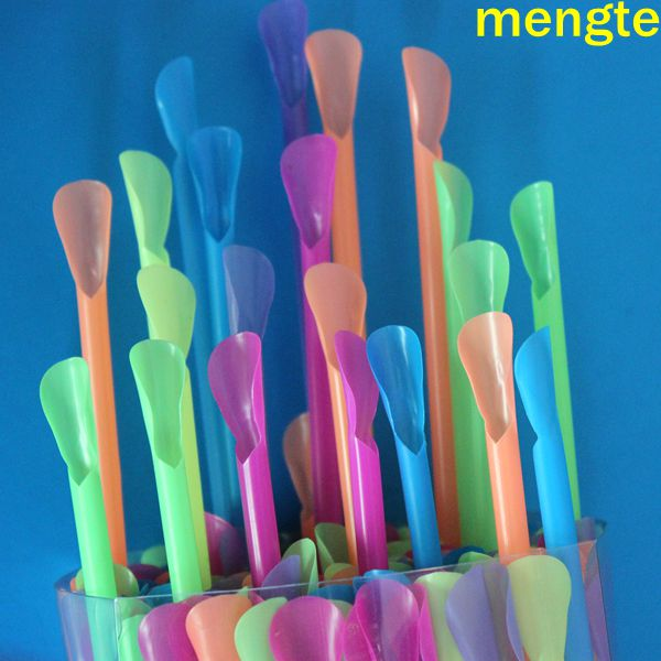 Low Price Bubble tea PP Solid Plastic Spoon Straw