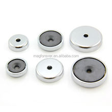 ferrite magnet with cup metal covered magnets