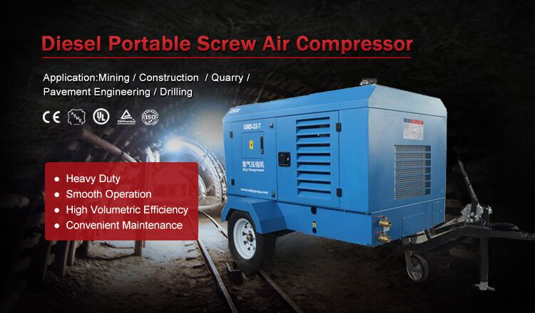 Products Machinery Portable Diesel Engine Screw Air Compressor for Offer