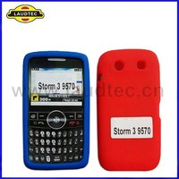 New Arrival Blue and Red Soft Skin silicone case back cover for Blackberry Storm 3 9570