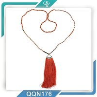 fashion designs crystal beaded mix fresh-water pearl necklace