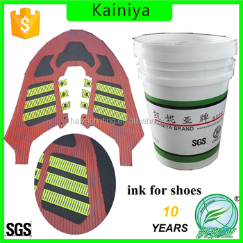 SGS approval screen printing white clear shoe paste for Anta Shoe Factory