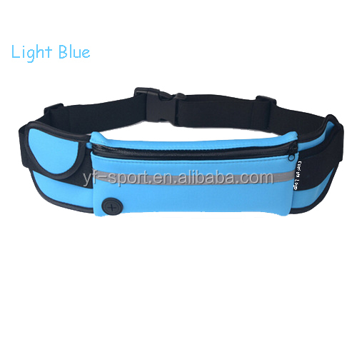 Running waist pack fitness sport bag relective waist band for camping