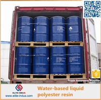 Water based polyester resin for marble