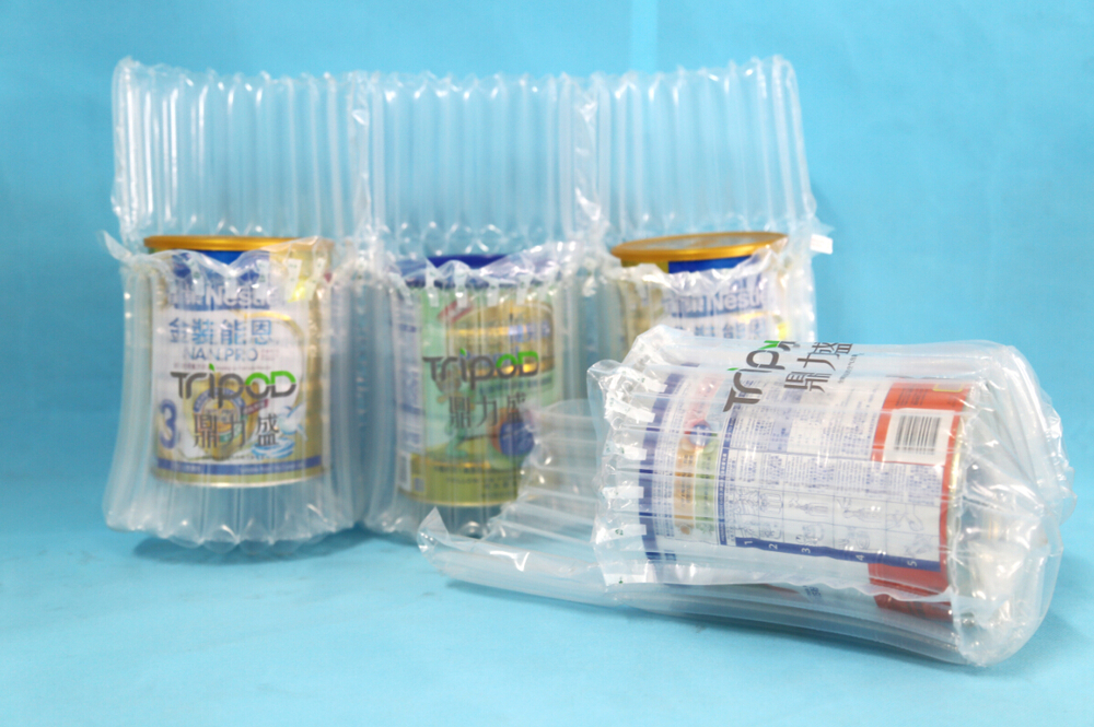 High quality plastic air packaging bag for milk powder can