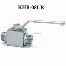 KHB-08LR ORFS Connection Body Ball And Stem Lever Aluminium With O-rings Extension Stem Ball Valve