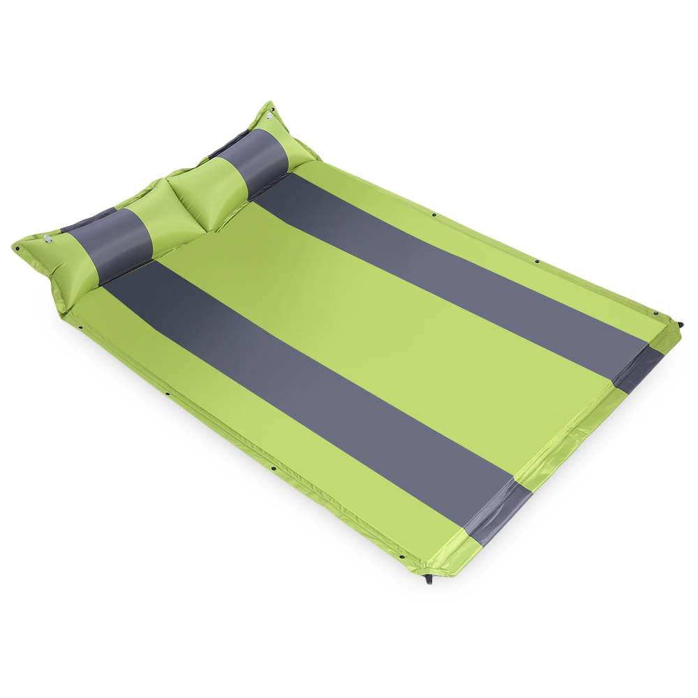 Two Person Automatic Inflatable Mattress Sleeping Mat Moisture Pad with Pillow for Outdoor Activity Camping Mat