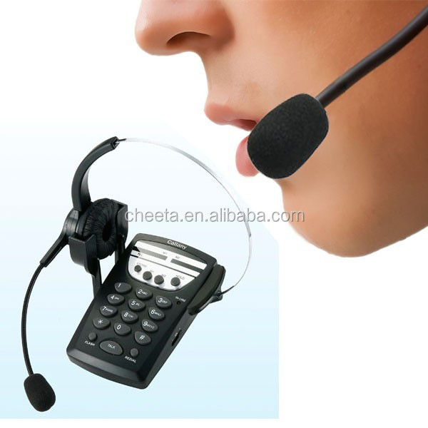 hand free unique landline telephone with headset