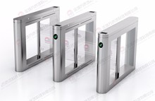 New Technology Product Lane Swing Glass Barrier , Optical Swing Gate Turnstile with Counting Function Available