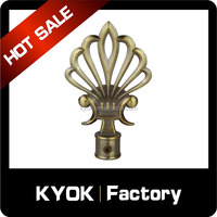 KYOK China wholesale elegant design wrought iron curtain rod finial