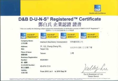 D&B D-U-N-S Registered Certificate