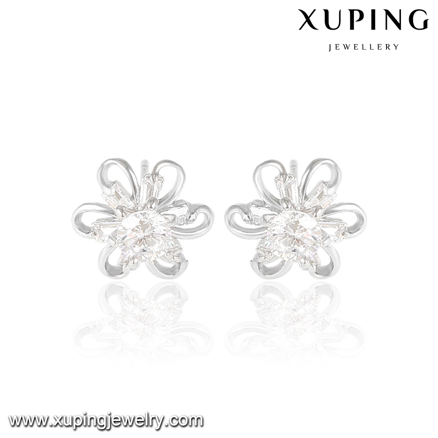 23642 xuping classic style diamond earring new model stud earring fashion jewelry