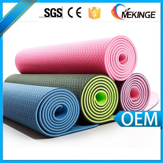 High resilient non-slip yoga mat material rolls with strap color yoga mat printed