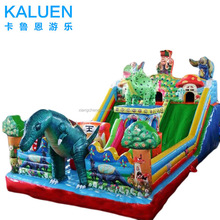 Commercial inflatable slip and slide inflatable stair slide toys