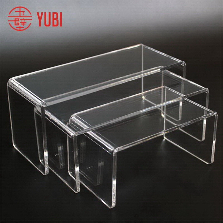 Cheap manufacture clear acrylic end table riser