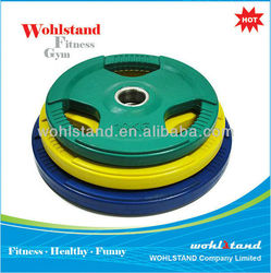 Nantong Olympic rubber coated weight plate