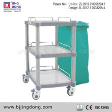 Hospital bed linen nursing trolley/cart