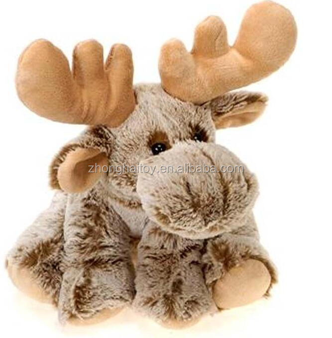Custom Comfortable Stuffed Plush Animal Christmas Singing Moose Soft Moose Toy