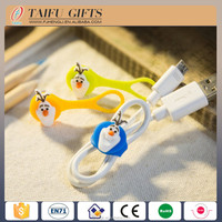 silicone cartoon earphone cable Data cable bundled Storage line
