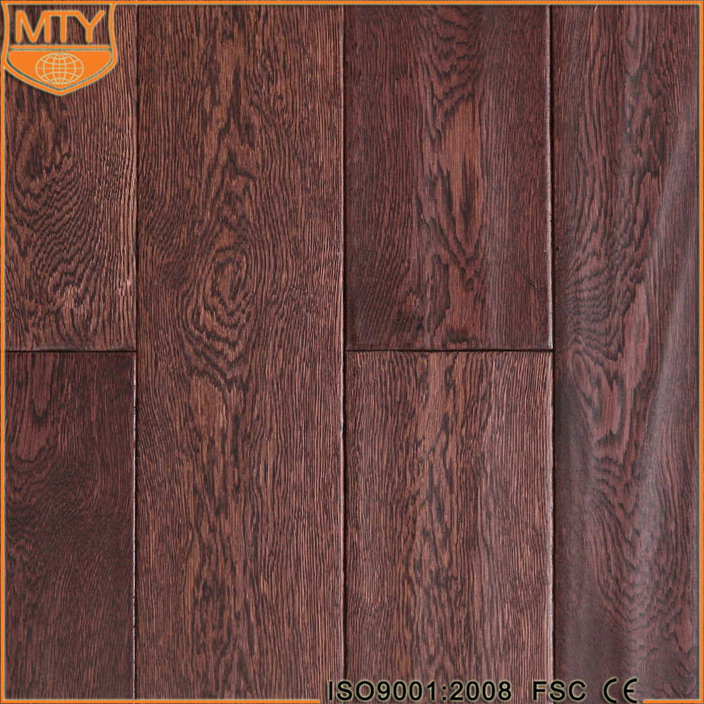 S-24 Real Wood Floor Oak Washed Solid Wood Floating Floor