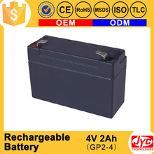 wholesale new product 4v 2ah rechargeable lead acid battery