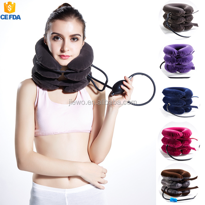 Online Shopping Inflatable Collar / Elestic pump Cervical Neck Traction Support / Air Neck Traction Device As Seen On TV