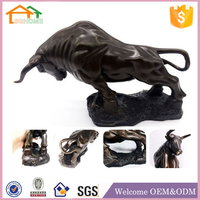 Factory Custom made home decoration polyresin buffalo carving