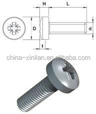 carbon steel pan head pozi drive machine screw made in haining
