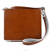 Genuine leather case for ipad with strap shoulder, OEM/ODM Welcomed