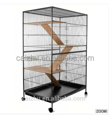 China supplier metal handmade large indoor cheap cat cages,ferret cage