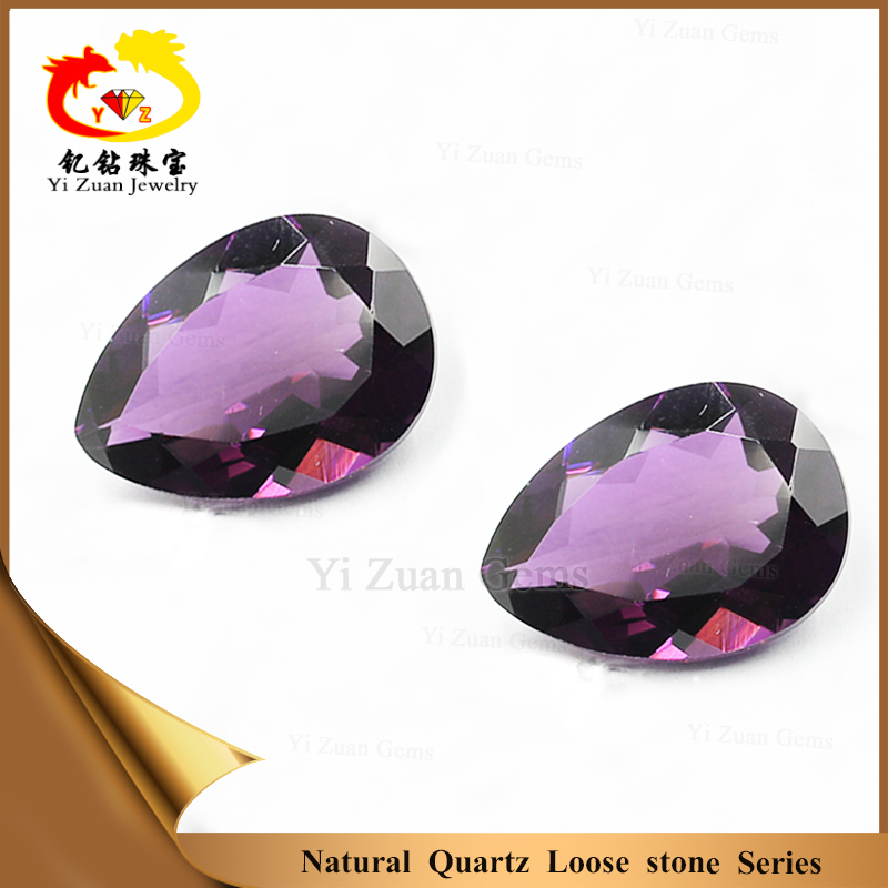 Rare South Africa amethyst pear shape facet cut natural quartz loose stone for jewelry set