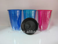 wholesale 16oz hard small plastic cups with lids and straw