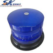 Blue 12V 24V Waterproof strobe flashing warning magnetic led rotating ambulance beacon light