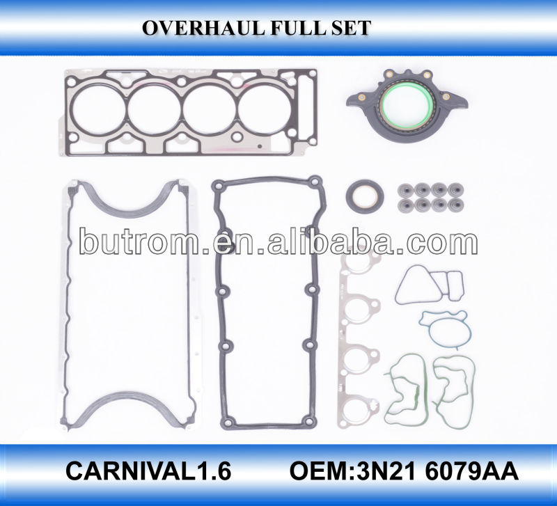 Auto spare part top engine gasket full set kit for CARNIVAL1.6