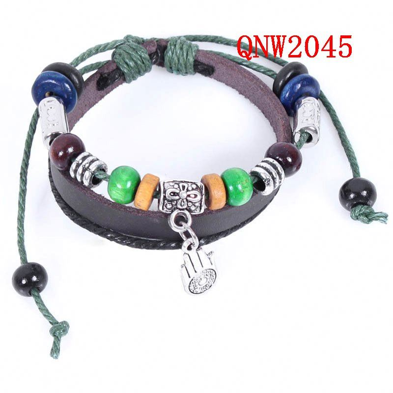 Handmade Retro Leather Bracelets and Bangles for Women Boy Multi Layer Hand Wear Unisex pulseras