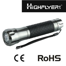 Supply high quality C size battery 3 watt portable flashlight torch with rubber in the bodayLFL1160