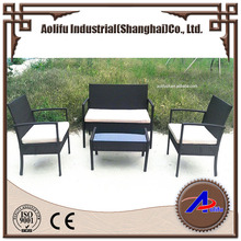 salable outdoor garden furniture flat PE rattan little sofa set