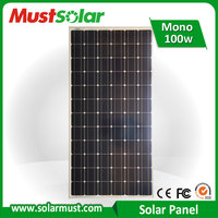 Factory Direct 100W Monocrystalline Solar Panel for Home Solar System