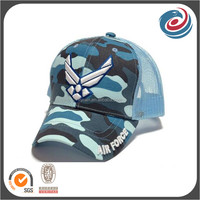 shapely six panels camouflage cotton and sandwich mesh caps