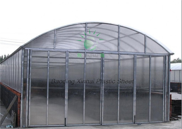 plastic roof greenhouses agricultural used greenhouse roofing PC material