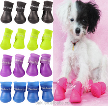 China Wholesale Lovely Portable Pet Dog Waterproof Boots PVC Rain Shoes