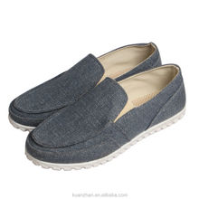 mens long canvas no lace shoes/canvas shoes manufacturer