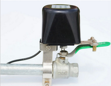 natural gas solenoid valve for smart home and gas valve timer function automatic shut down
