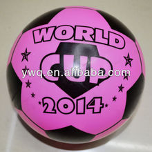 PVC plastic balls with nice logo for promotional for 2014 world cup