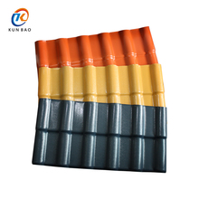 Colored high quality ASA synthetic resin Spanish style pvc Plastic Roofing Tiles For Residential Housing Projects