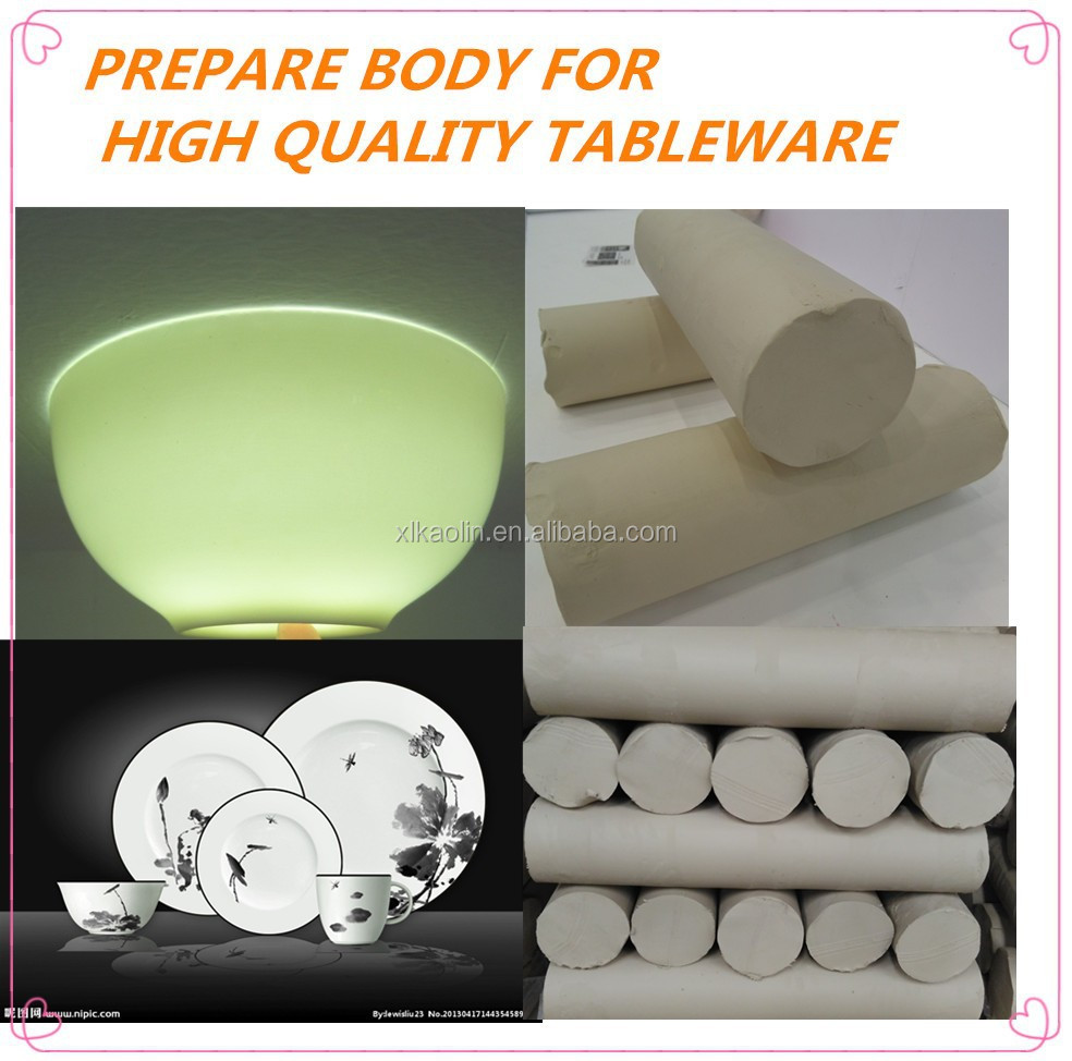 ready clay porcelain clay prepare body for bone china